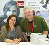 Judit Polgar and Nigel Livesey