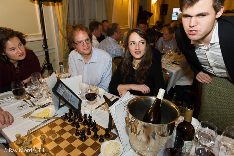 Magnus Carlsen, taking part in the simultaneous